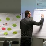 Ideensammlung an einem Flipchart